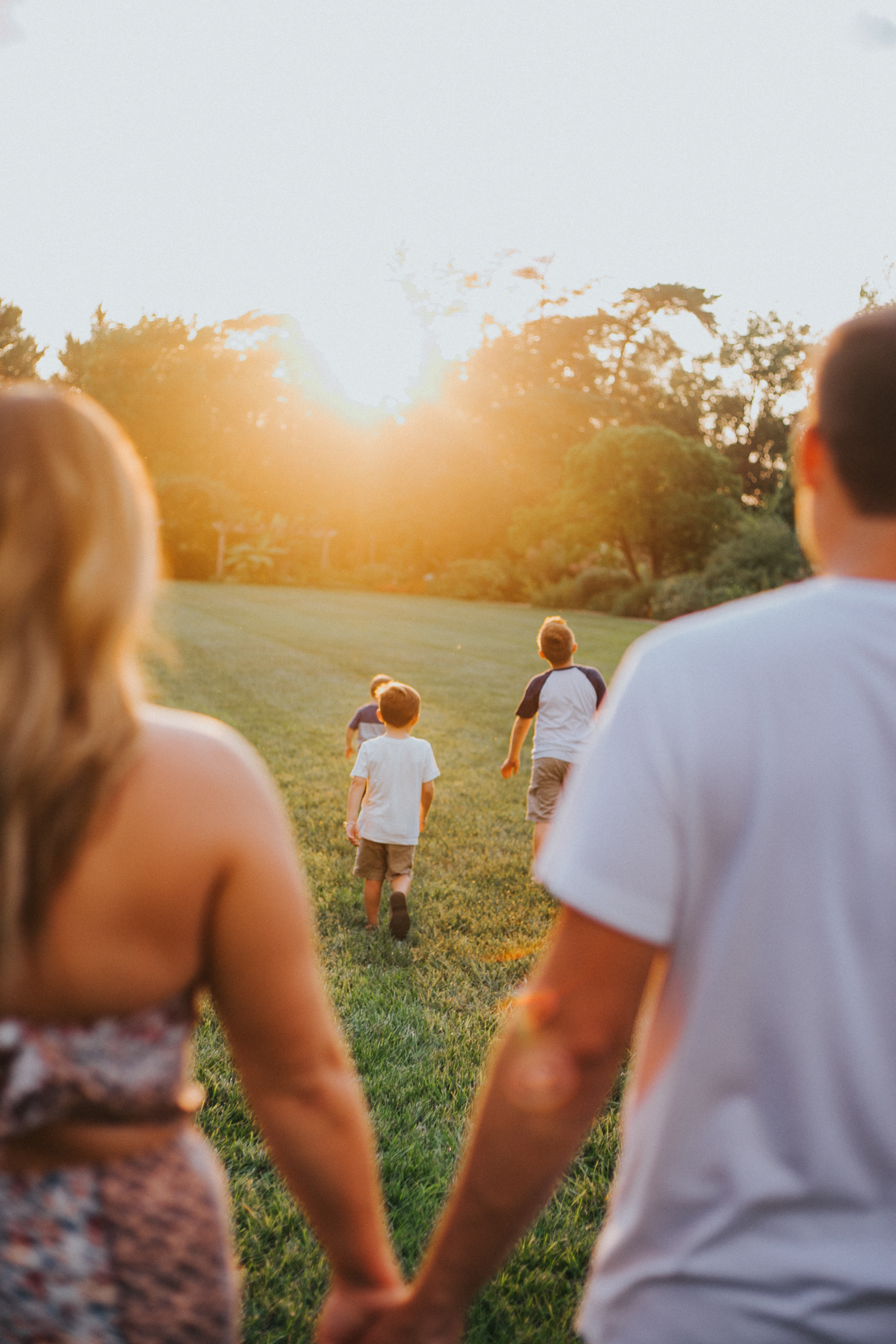Ault Park Family Photography at golden hour