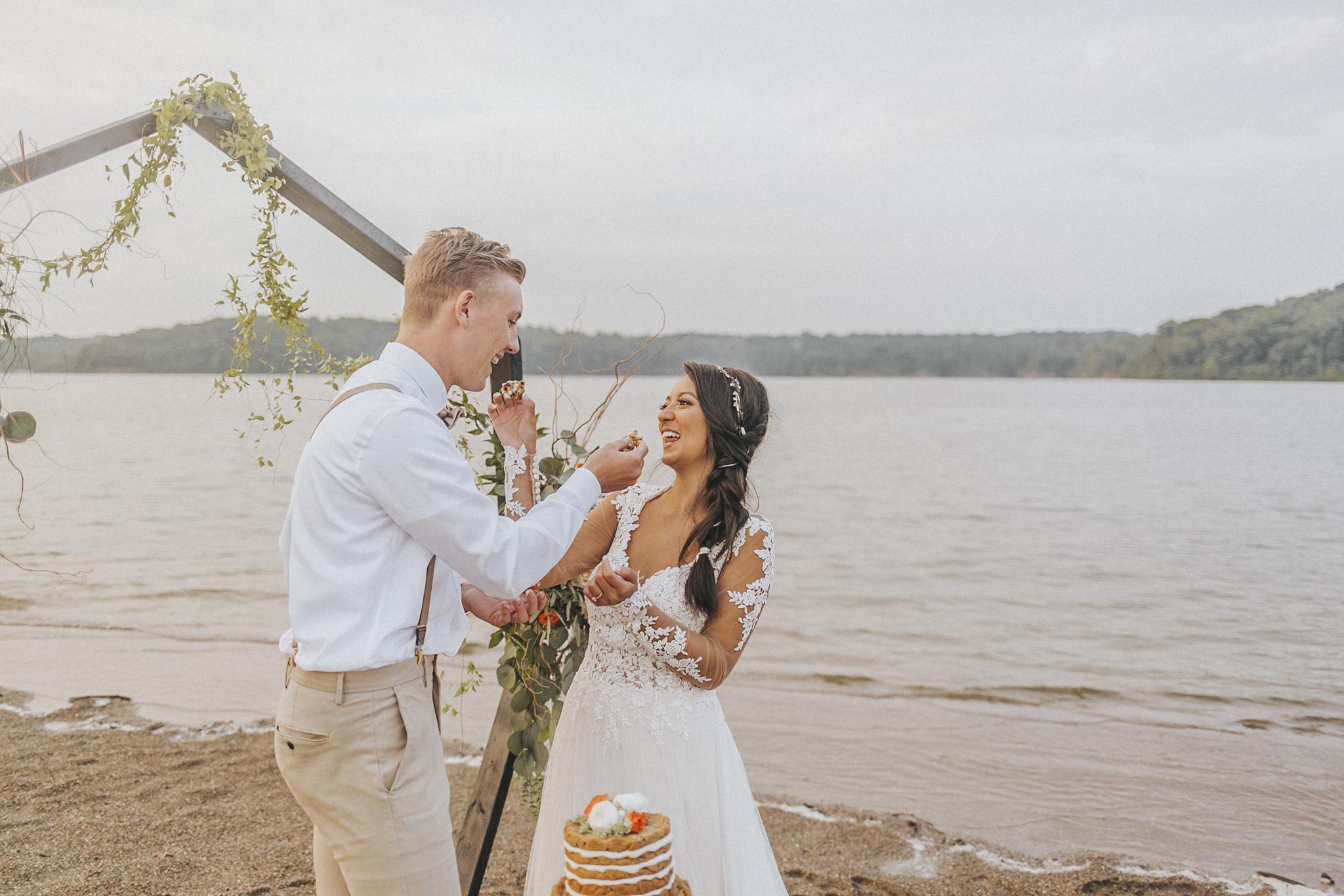 East Fork Lake Boho Elopement by Bare Moments Photography // cincinnati wedding photography