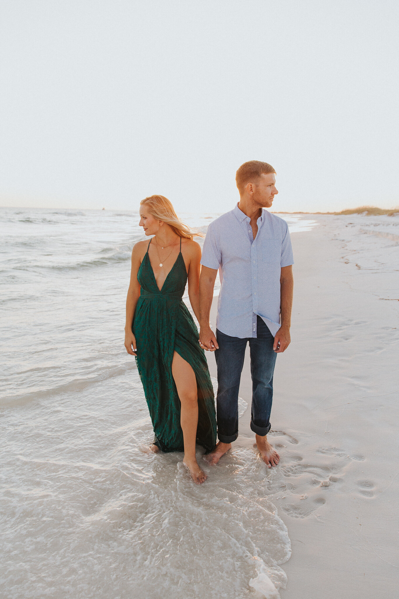Destin Beach Sunset Engagement Session // Destin Photography by Bare Moments Photography