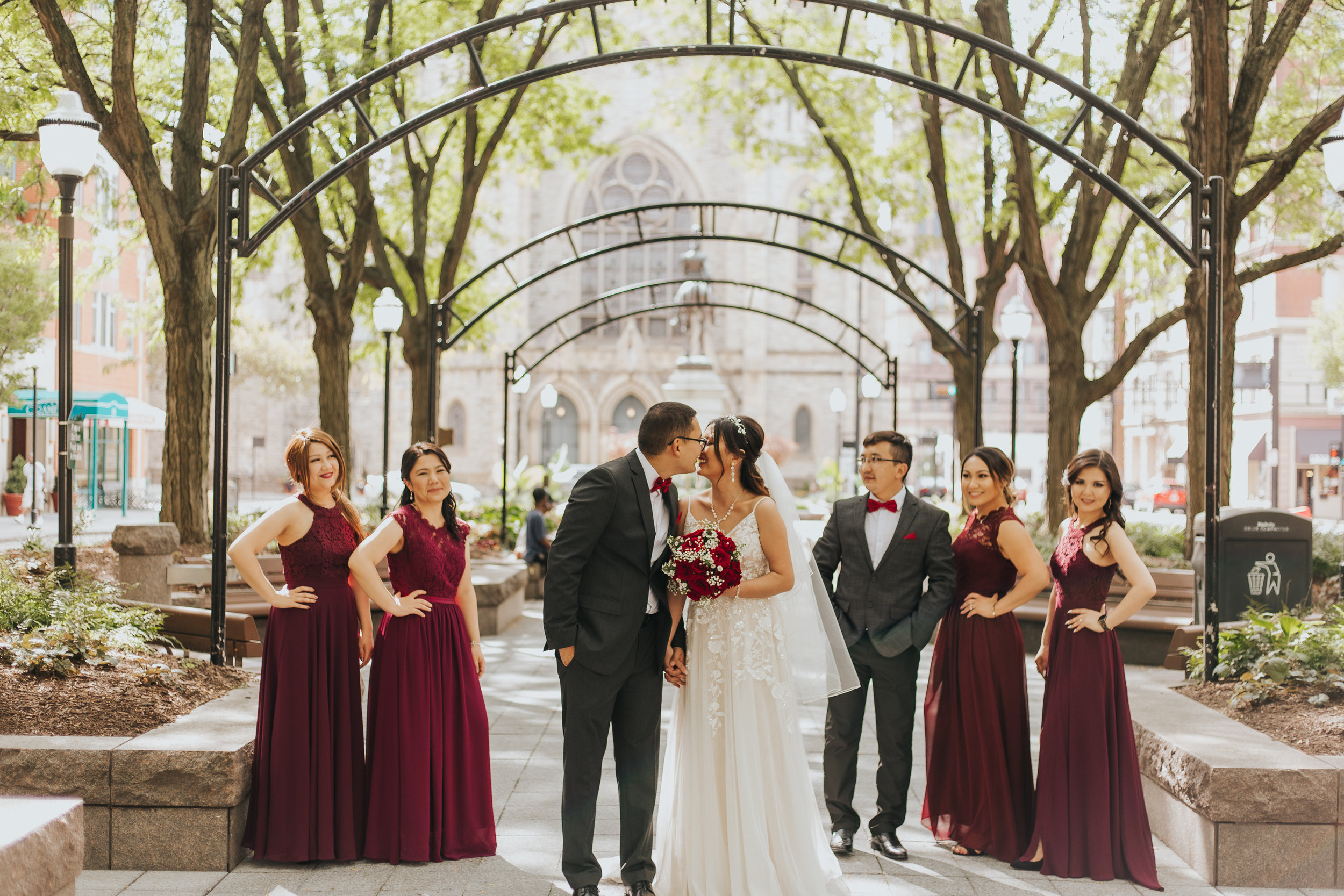 Downtown Cincinnati Bridal Portraits in Smale Park, Over the Rhine, and more By Bare Moments Photography