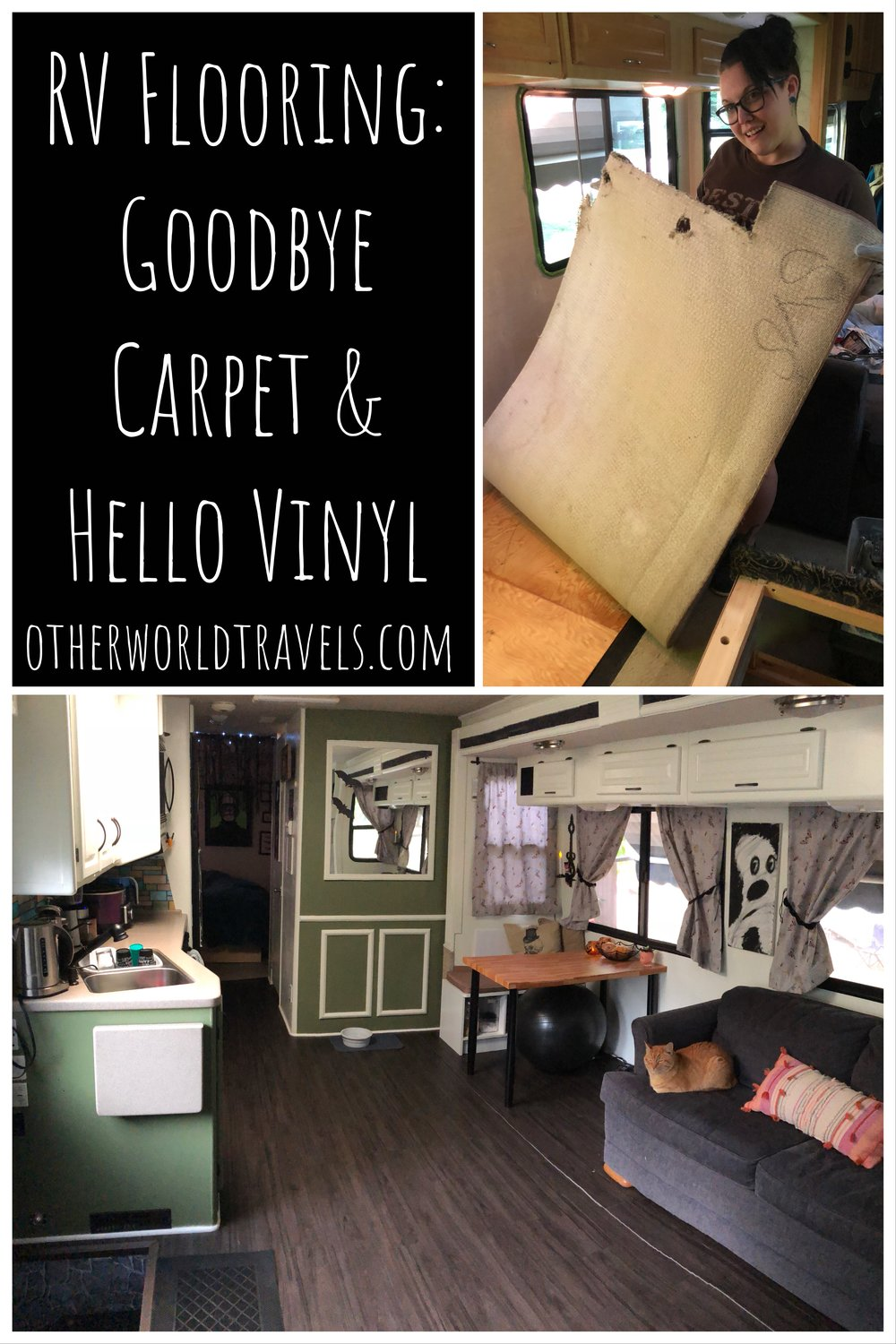 Rv Flooring Goodbye Carpet And O, Replacing Carpet With Laminate Flooring In Rv