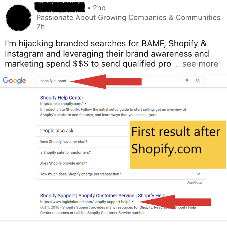 Brand-jacking BAMF, Shopify and Instagram.