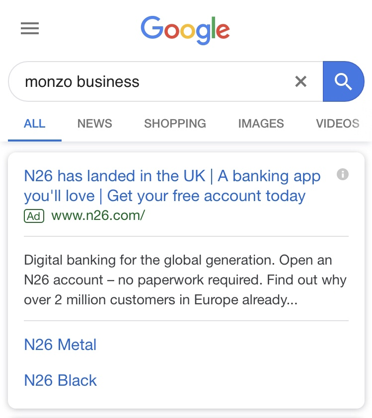N26 Brand-jacking Monzo Busines.jpg