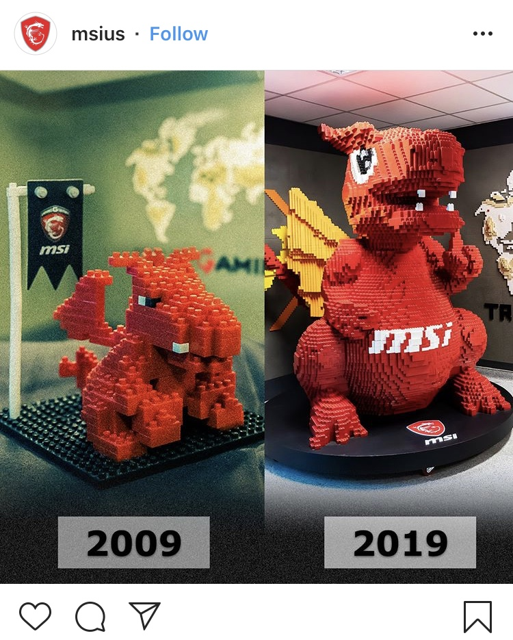MSi then and now. #10YearChallenge on Instagram.