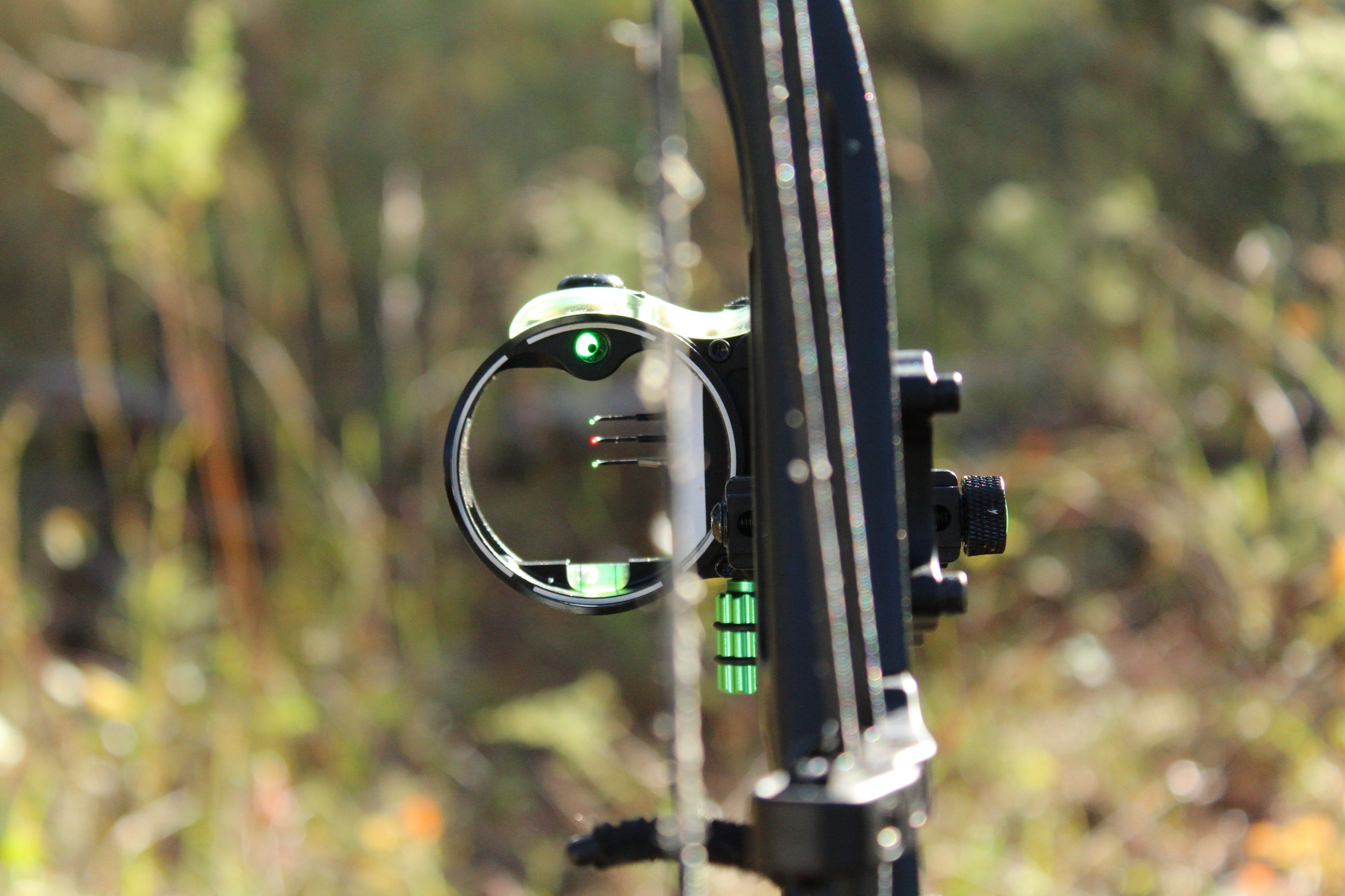 The retina lock will look off center, like in the picture above, when your bow is torqued
