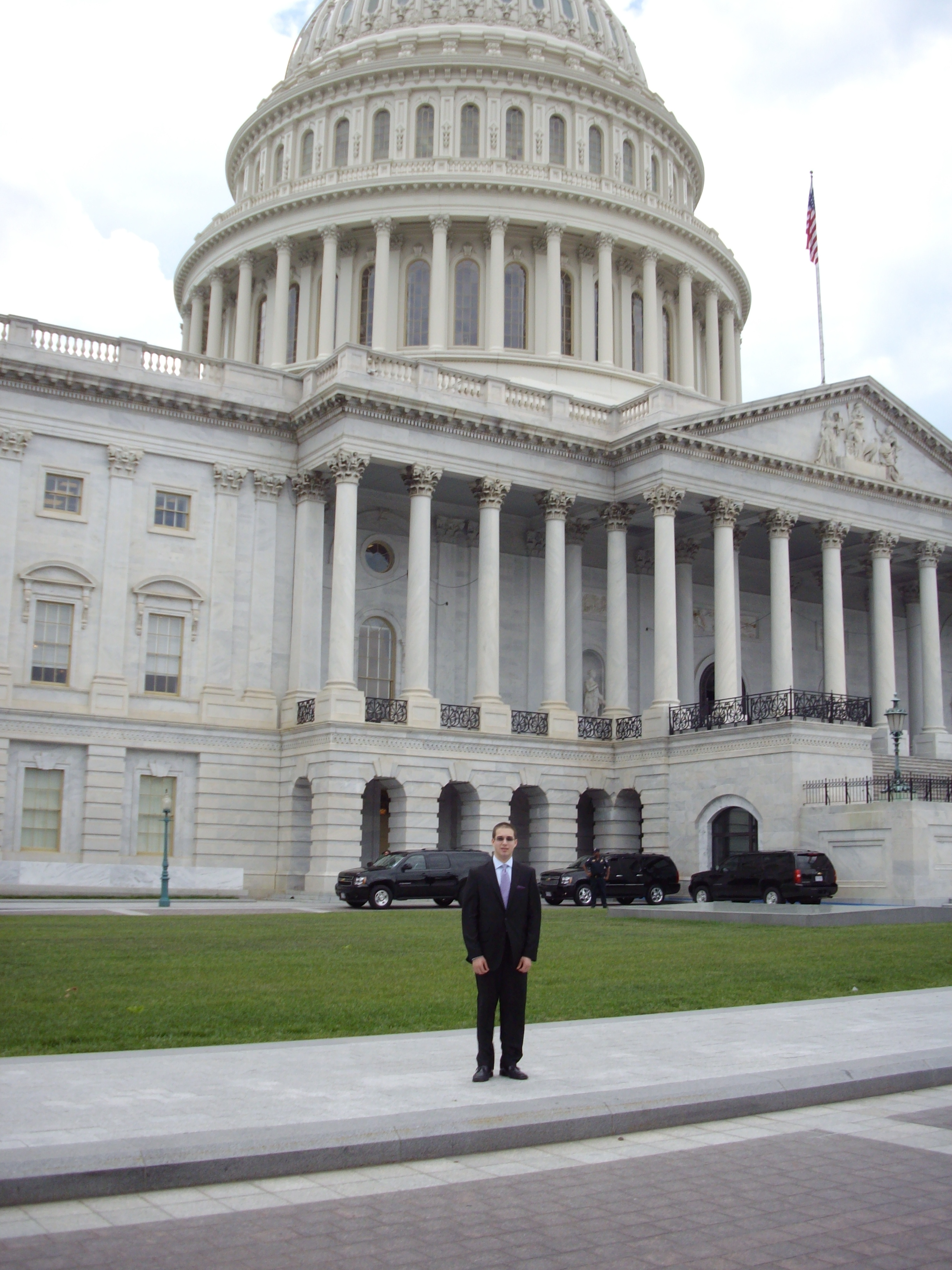 Outside the Capitol Building in Washington, DC in May 2011.