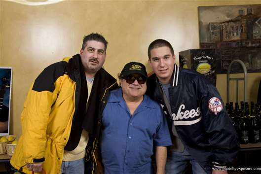My dad and I with actor Danny DeVito, March 2010