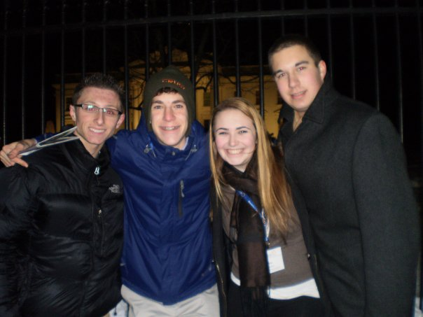 With friends outside the White House, February 2010