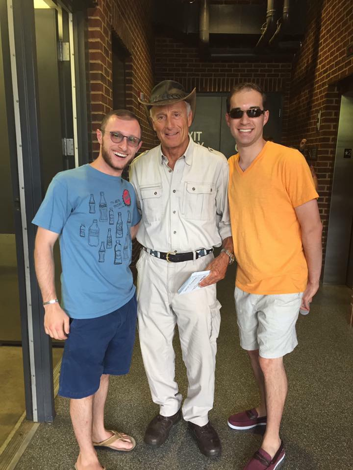 """My best friend Josh and I with """"Jungle Jack"""" Hanna of the Columbus Zoo, May 2017"""