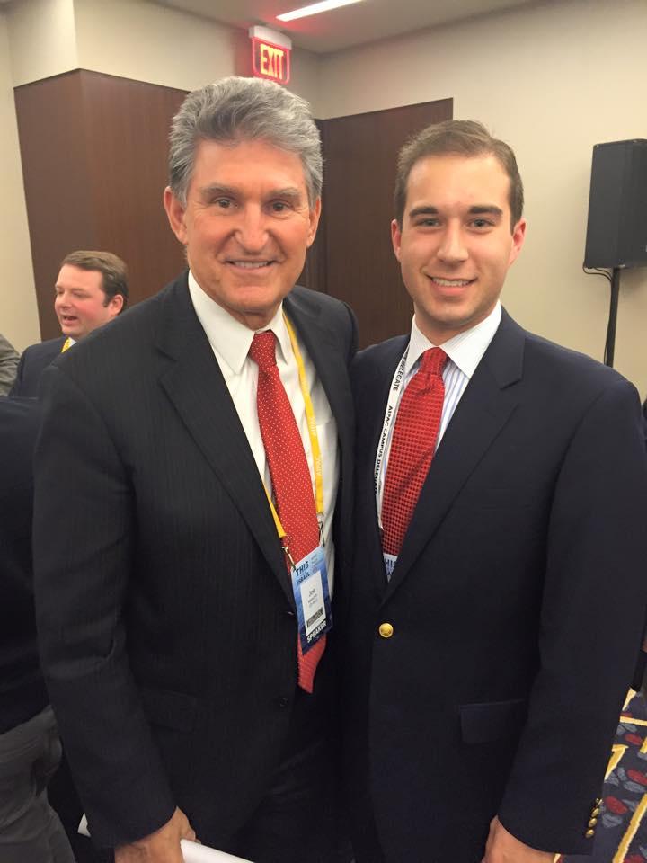 With Senator Joe Minchin (D-WV), March 2015