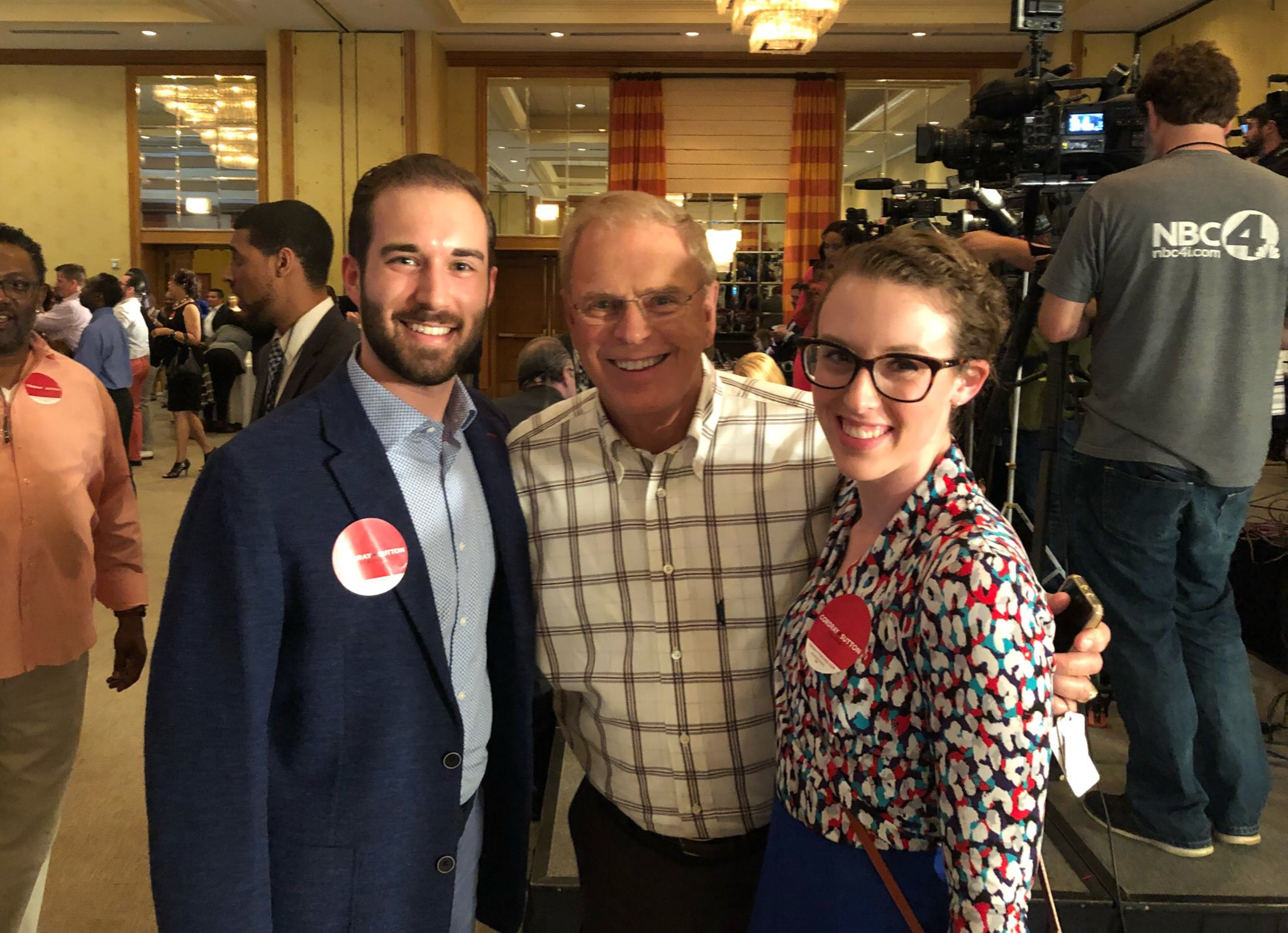 With former Ohio governor Ted Strickland