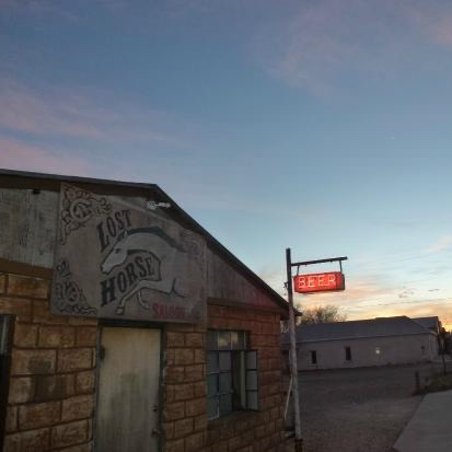 THE LOST HORSE - THIS IS THE QUINTESSENTIAL SMALL, WEST TEXAS WATERING WHOLE - THE LOST HORSE DOESN'T LOOK LIKE MUCH FROM THE OUTSIDE, BUT IT'S GOT MORE CHARACTER THAN IT CAN HANDLE (THE OWNER IS A ONE-EYED COWBOY). LOCALS AND VISITORS ALIKE BRING THEIR DOGS FOR A BEER AND LIVE MUSIC. DON'T MISS IT!