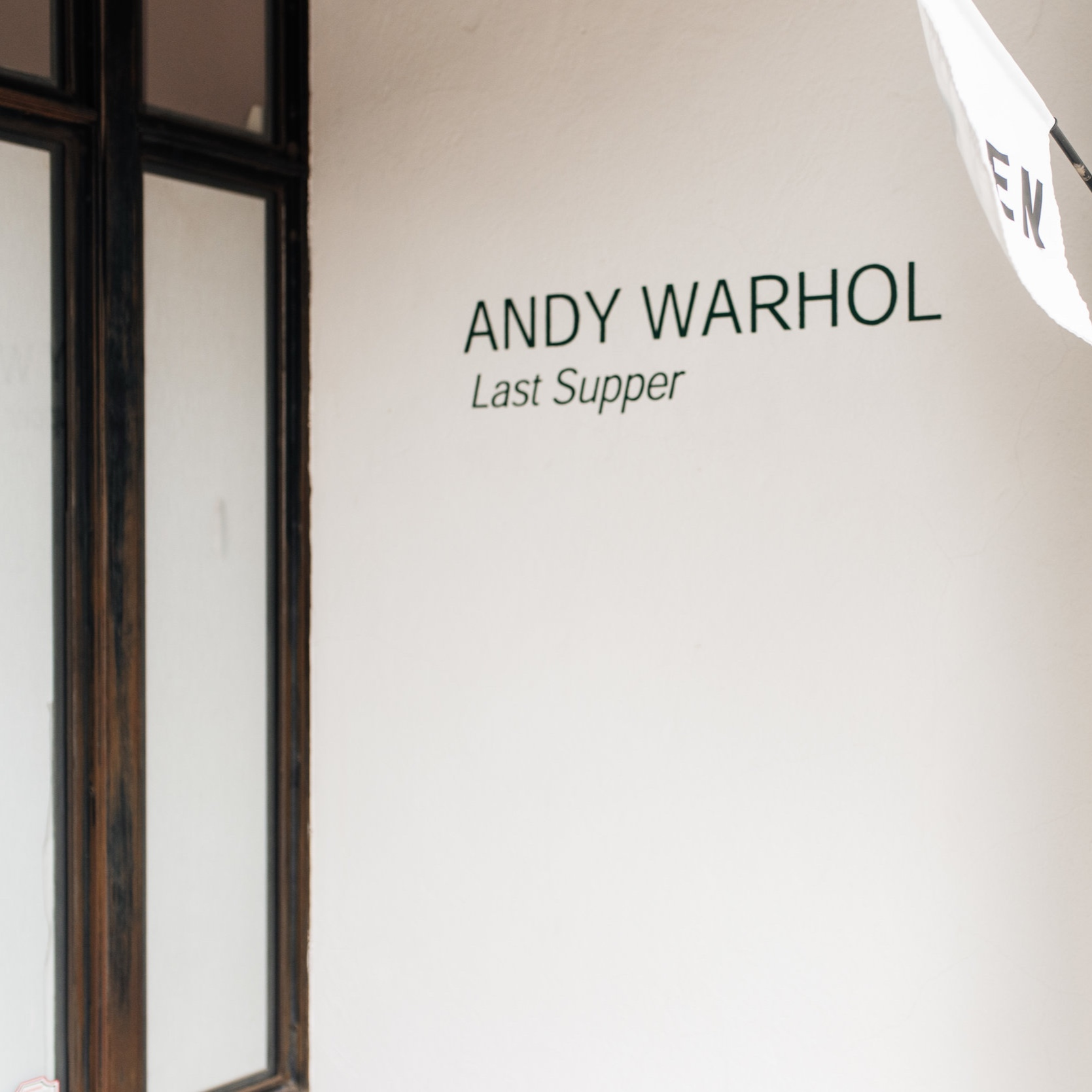 AYN FOUNDATION - PERHAPS BETTER KNOWN AS THE WARHOL INSTALLATION, THE AYN FOUNDATION HOUSES ANDY WARHOL'S LAST SUPPER. IT'S A QUICK STOP - JUST ONE ROOM - WHERE PICTURES AND VIDEO ARE NOT PERMITTED.(PHOTOGRAPHY BY MARSHALL DAVID, SECRETARY STUDIO)