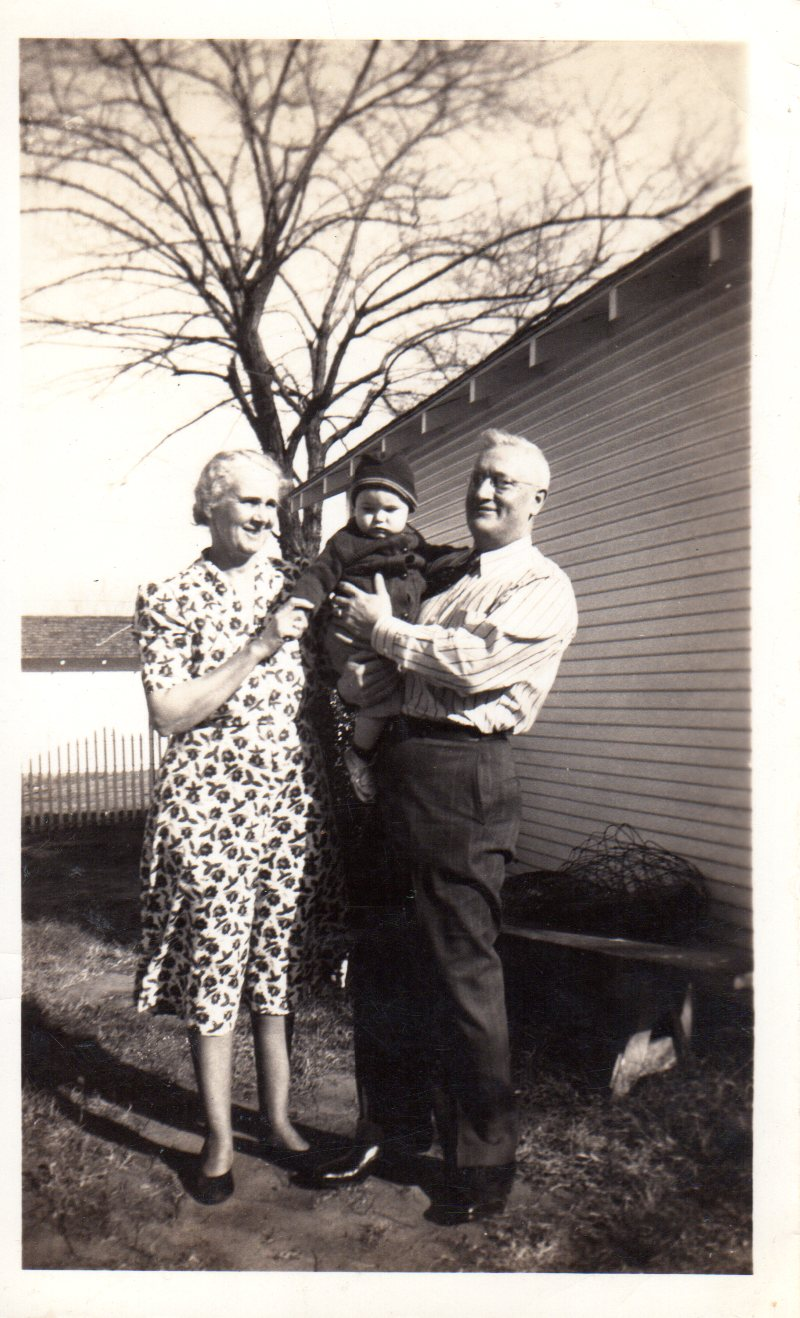 My daddy with his grandparents circa 1938. Wasn't he adorable?