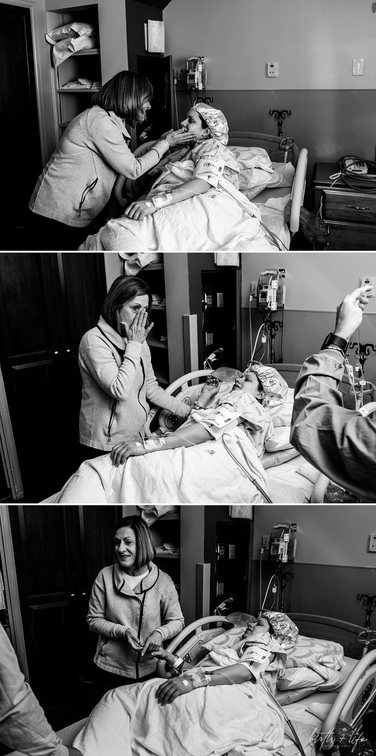 DFW Birth Photographer C Section Birth Story with Acclaim Nurse Midwives at Texas Health Harris Methodist Downtown Fort Worth newborn photos and maternity photography