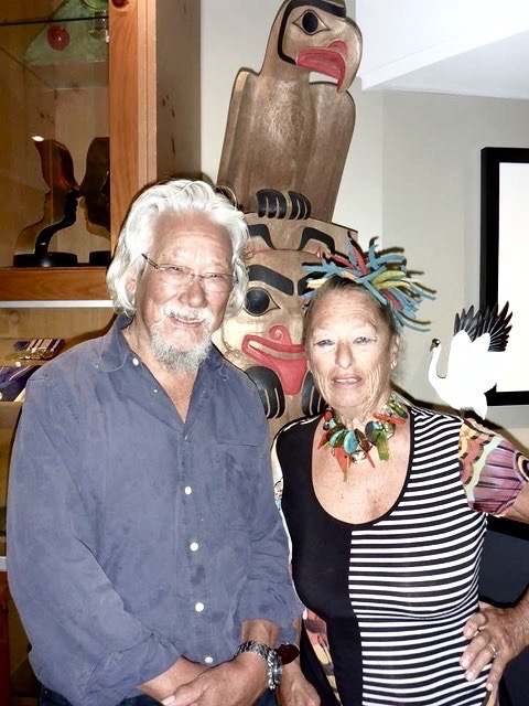 Evelyn with environmentalist David Suzuki, Vancouver, 2009