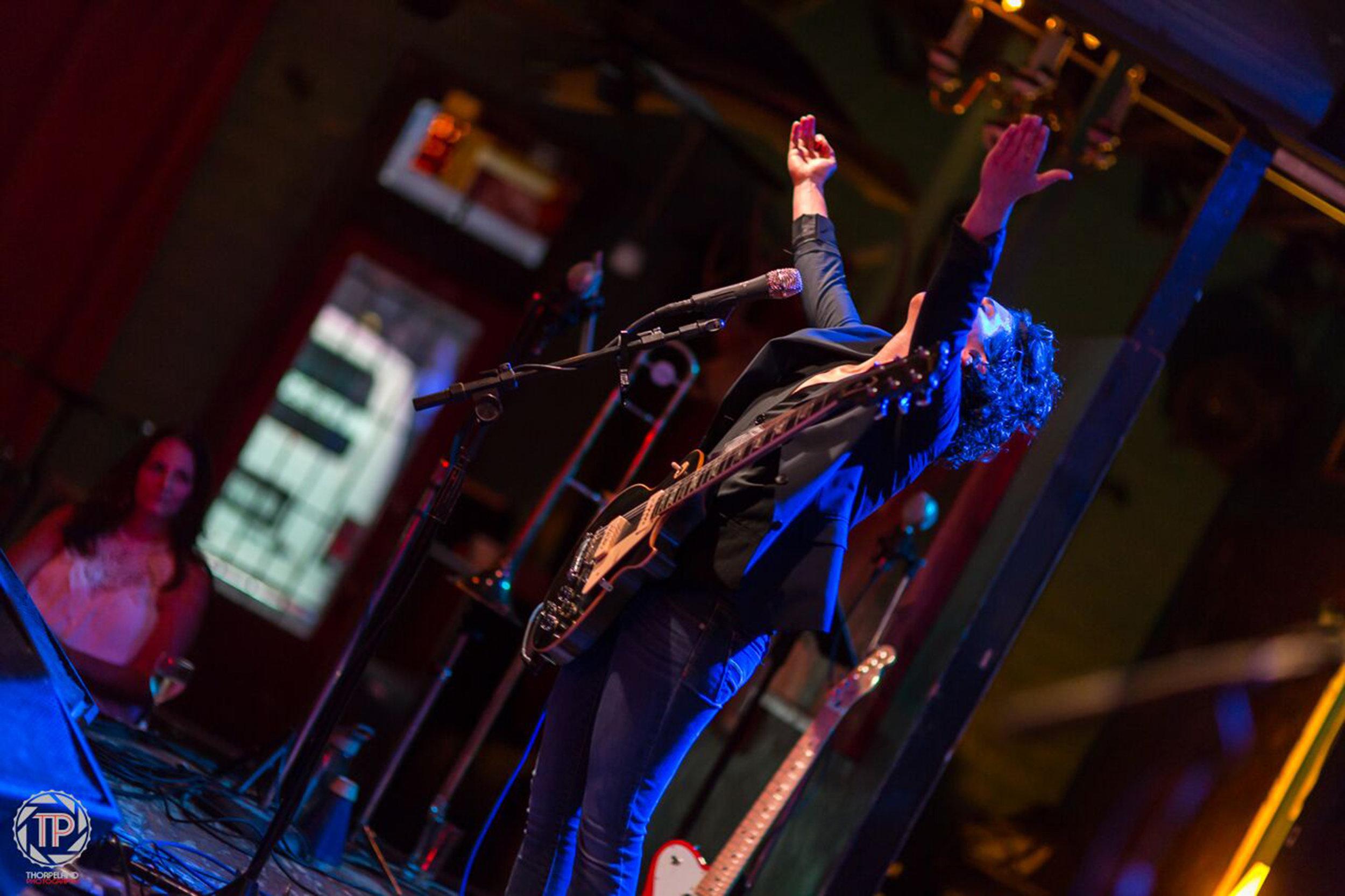 Bat-Or Kalo of the band KALO plays at Dan's Silver Leaf in Denton, Texas