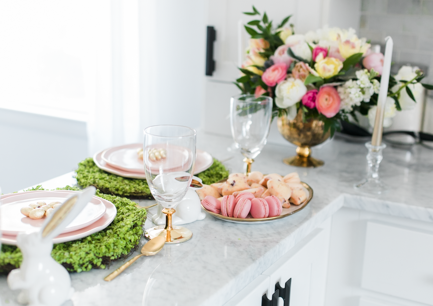 Beautiful Easter Brunch Tablescape