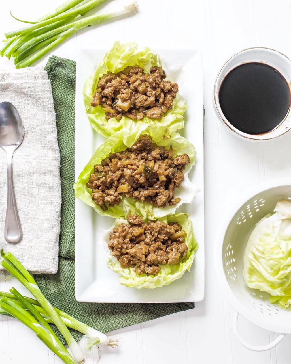 Teriyaki Lettuce Wraps | The Modern Life Mrs
