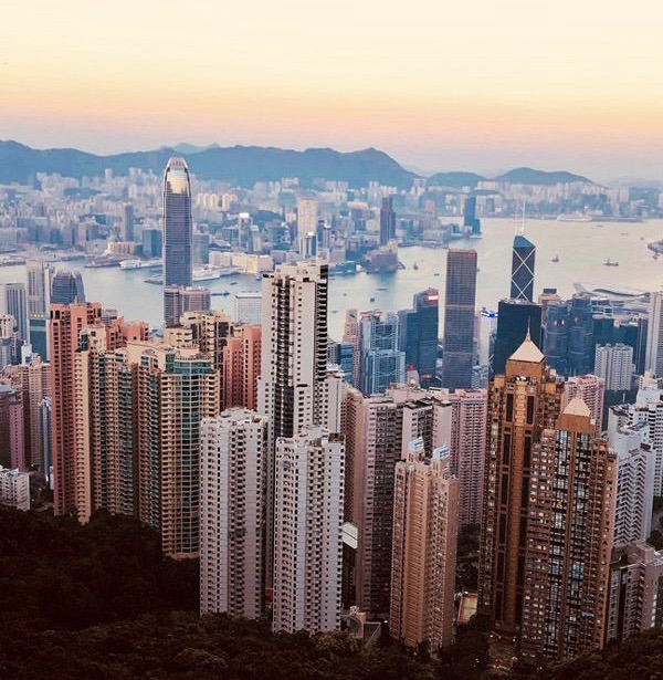 Photo taken from Pinterest. This is a view you would get from Victoria Peak