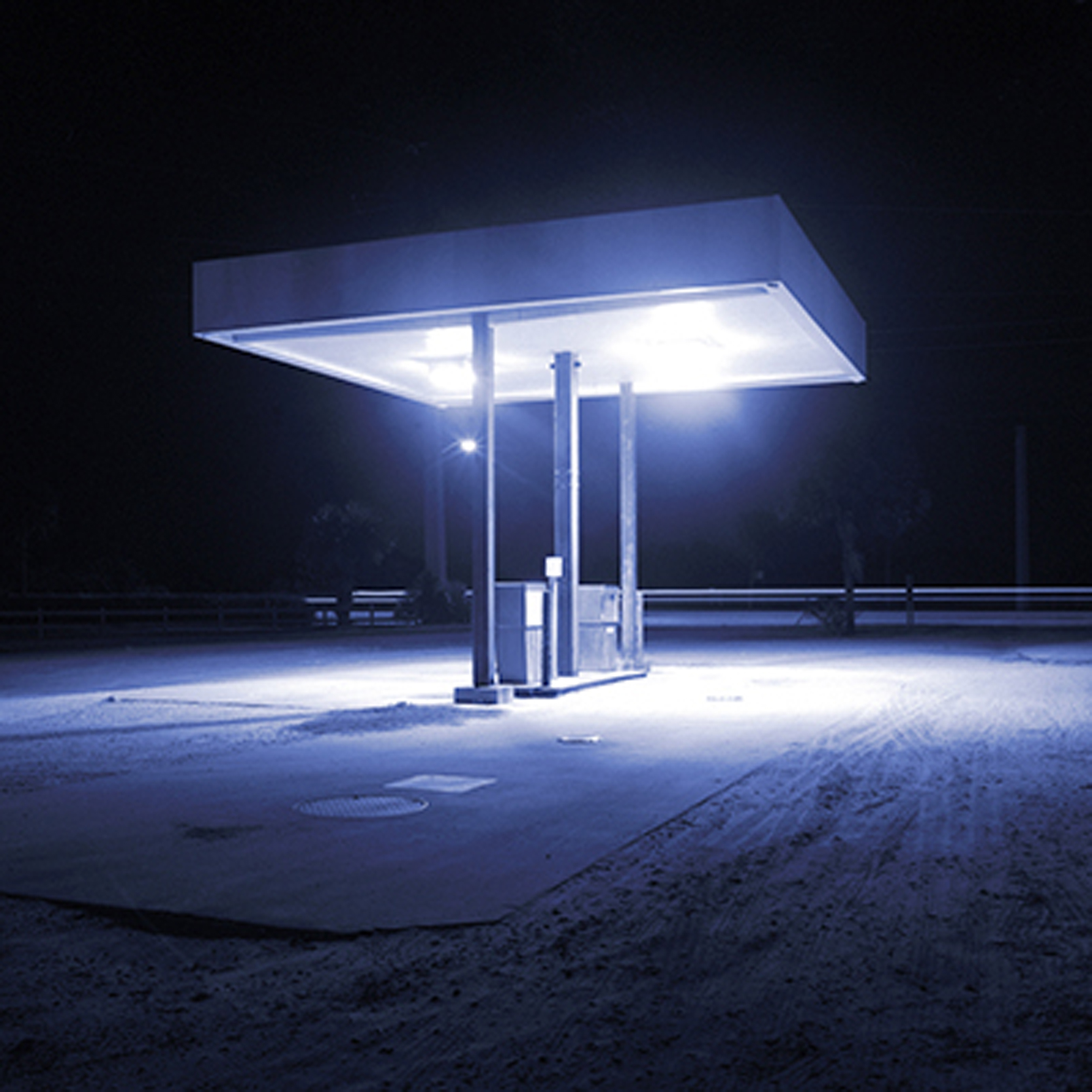 Gas Station, 15 x 15 inches / 38 x 38 cm, Fuji crystal archive print, edition of 10, 2001-2006