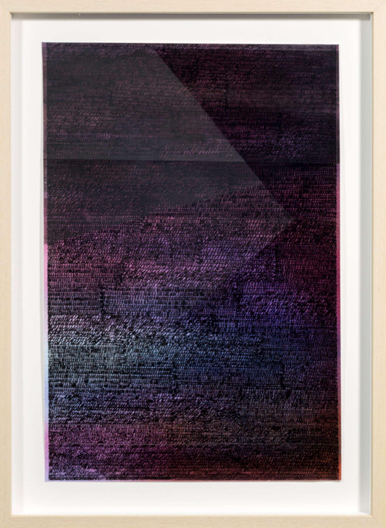 LINDSEY LANDFRIED | Ecstatic Dark, 21.5 x 14.75 inches / 54.5 x 37.5 cm, acrylic on folded paper, 2018