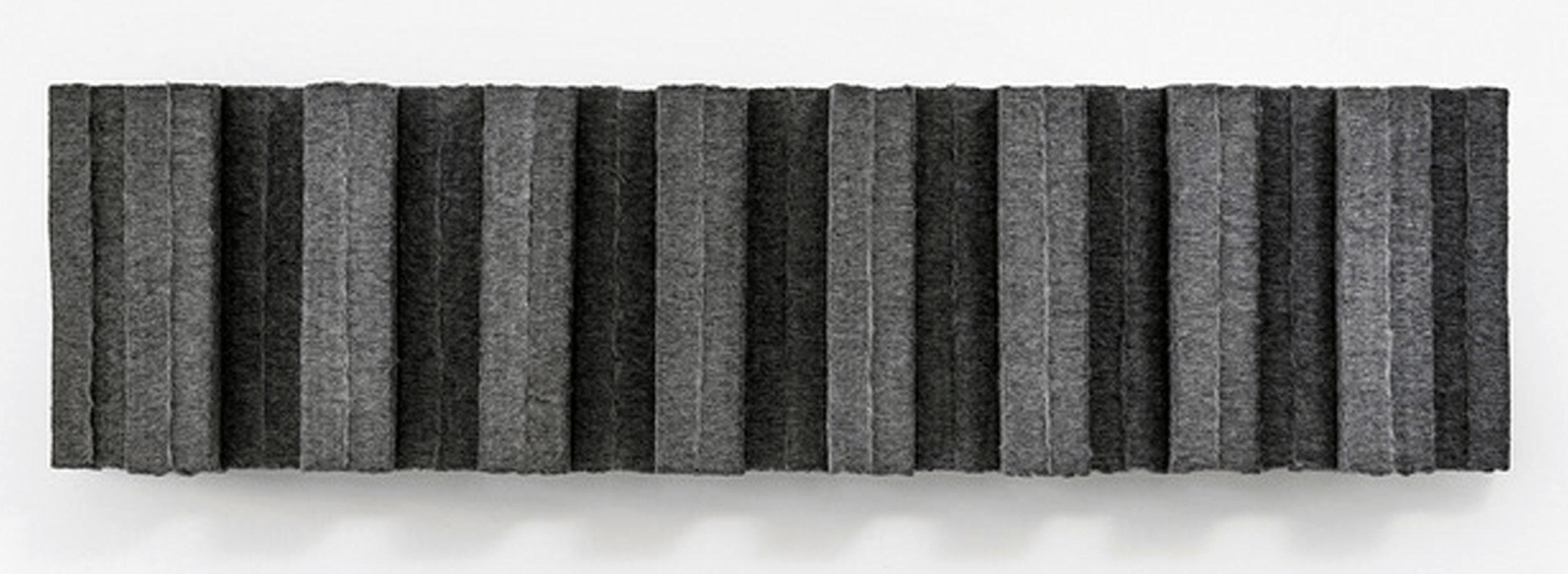 MARCIE MILLER GROSS   Sheared #3, 18 x 68.5 x 7 inches / 46 x 174 x 18 cm, wool industrial felt, 2012