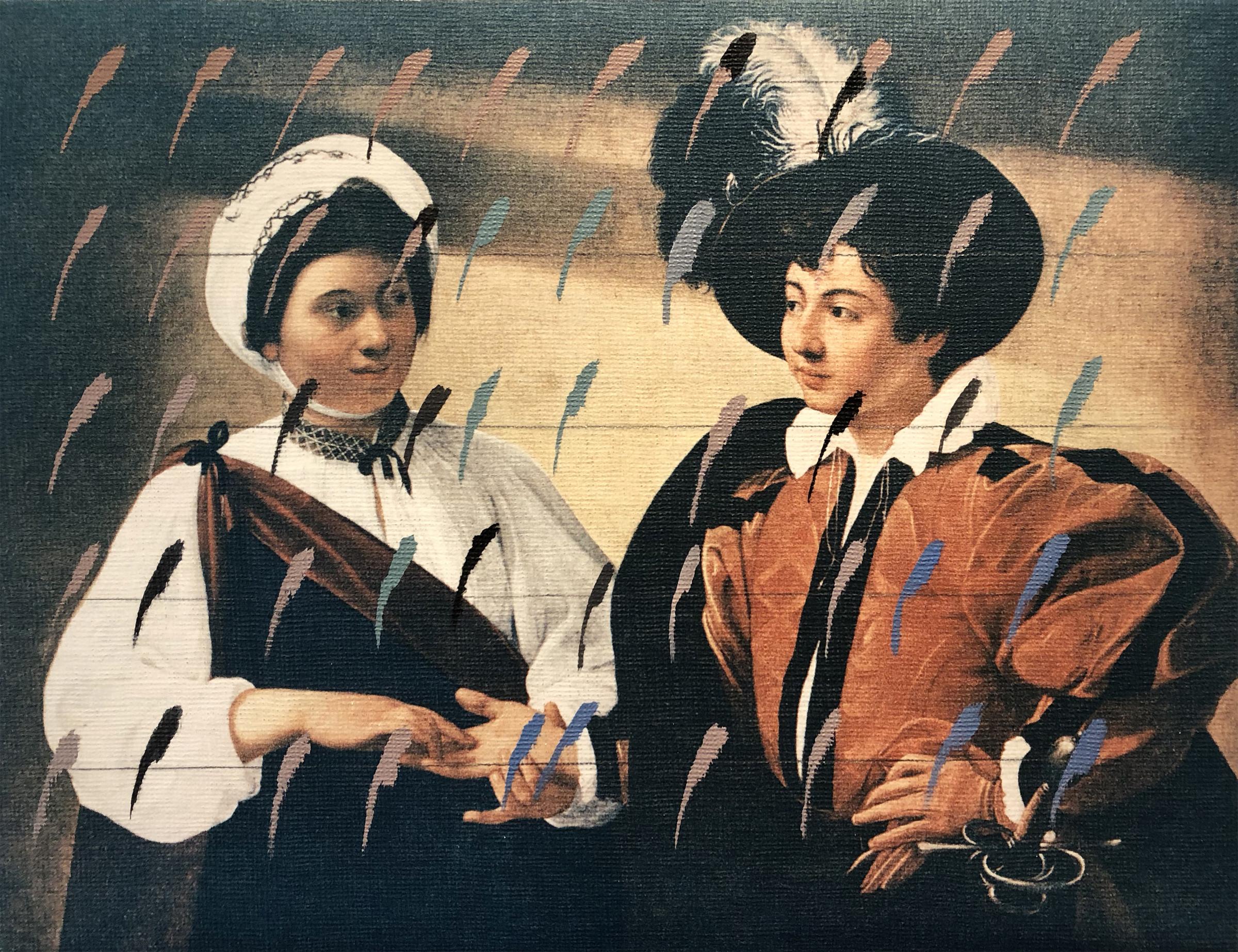 Untitled, 16 x 23 inches / 40.5 x 58.5 cm, mixed media, acrylic on burlap canvas, 1982