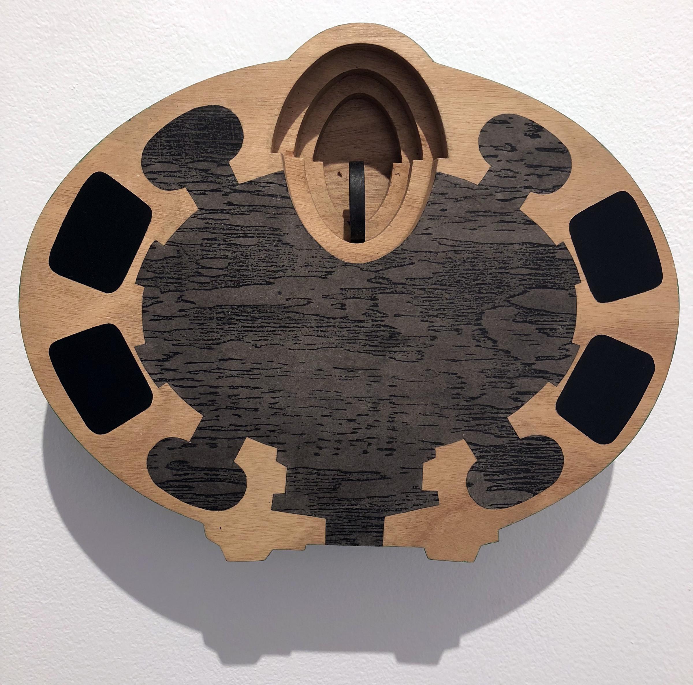 San Andrea, 11.5 x 14 x 3.5 inches / 29 x 35.5 x 9 cm, mixed media, wood, 1990