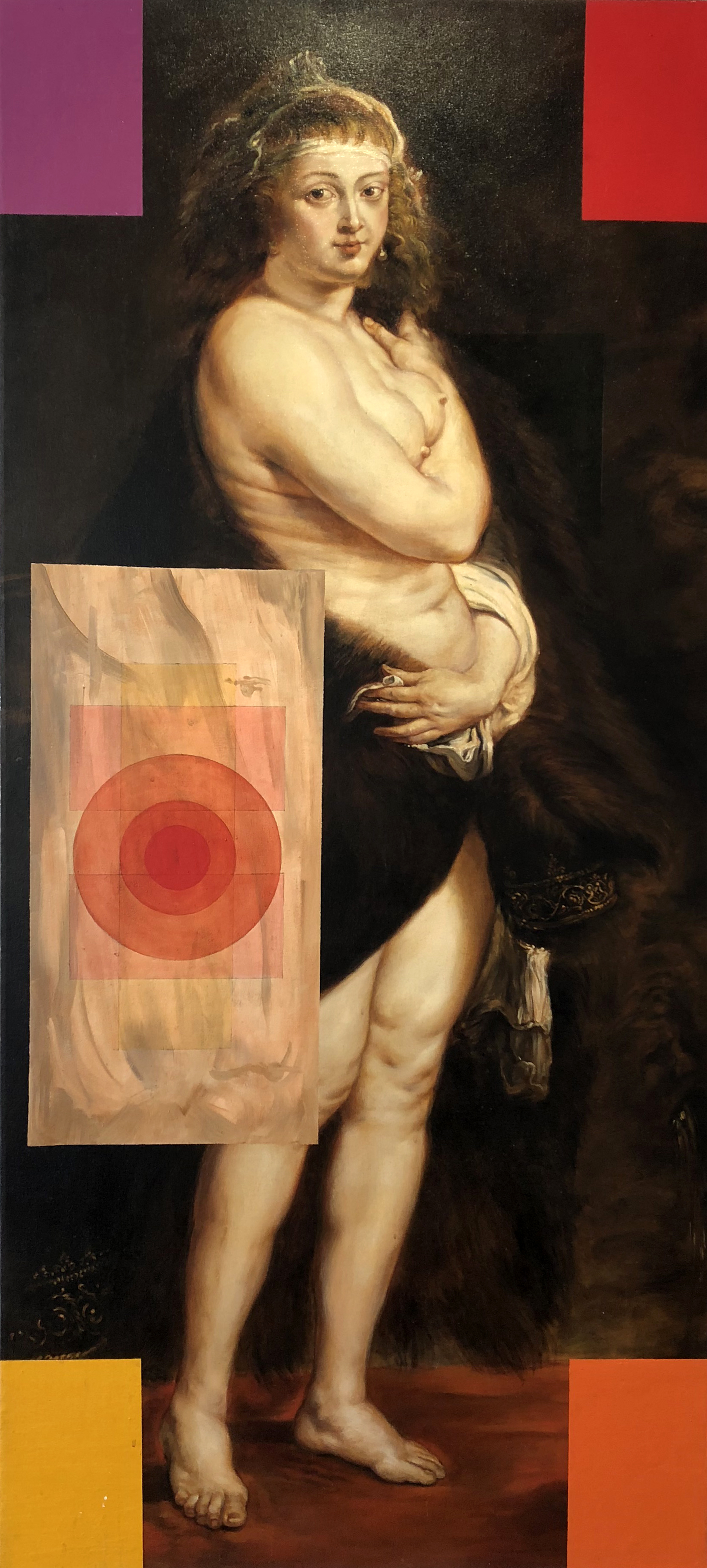 OSVALDO ROMBERG | Untitled - Rubens (Paradigm Series), 66 x 30 inches / 167.5 x 76 cm, oil on canvas, 2008