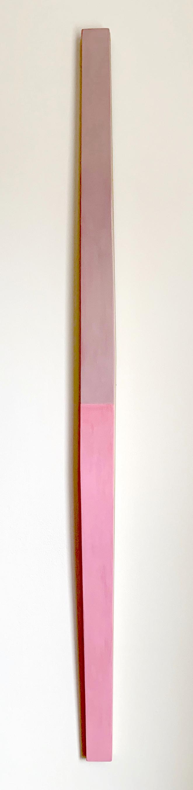Illusion of Flight #1, 62.25 x 2.875 x 1.75 inches / 158 x 7.3 x 4.5 cm, acrylic on poplar, 2019