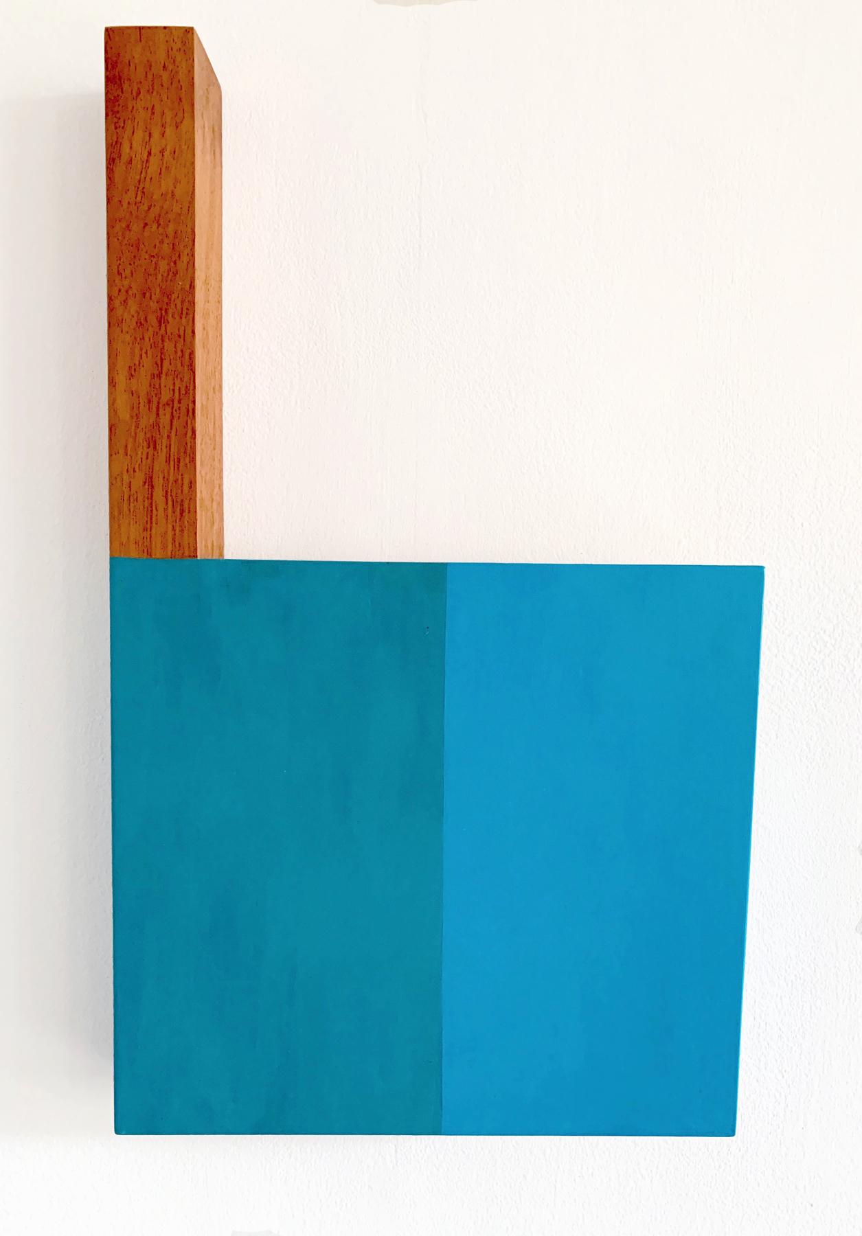 Turk Street 1967, 22.75 x 13.5 x 2.375 inches / 58 x 34 x 6 cm, acrylic on birch veneer plywood and sapele, 2018