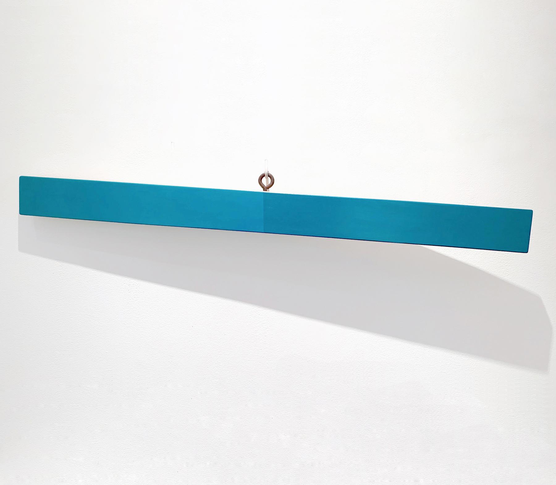 Lost and Found #3, 5.5 x 45.25 x 3 inches / 14 x 115 x 7.5 cm, acrylic on poplar, 2019