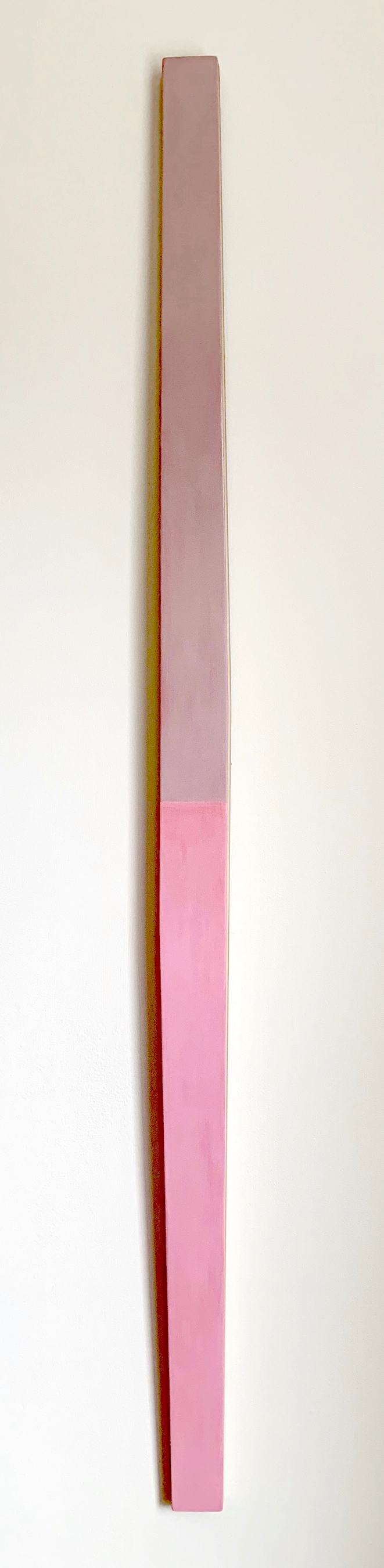 Illusion of Flight #1, 62.25 x 2.875 x 1.75 inches / 158 x 7.3 x 4.5 cm, acrylic on poplar, 2019