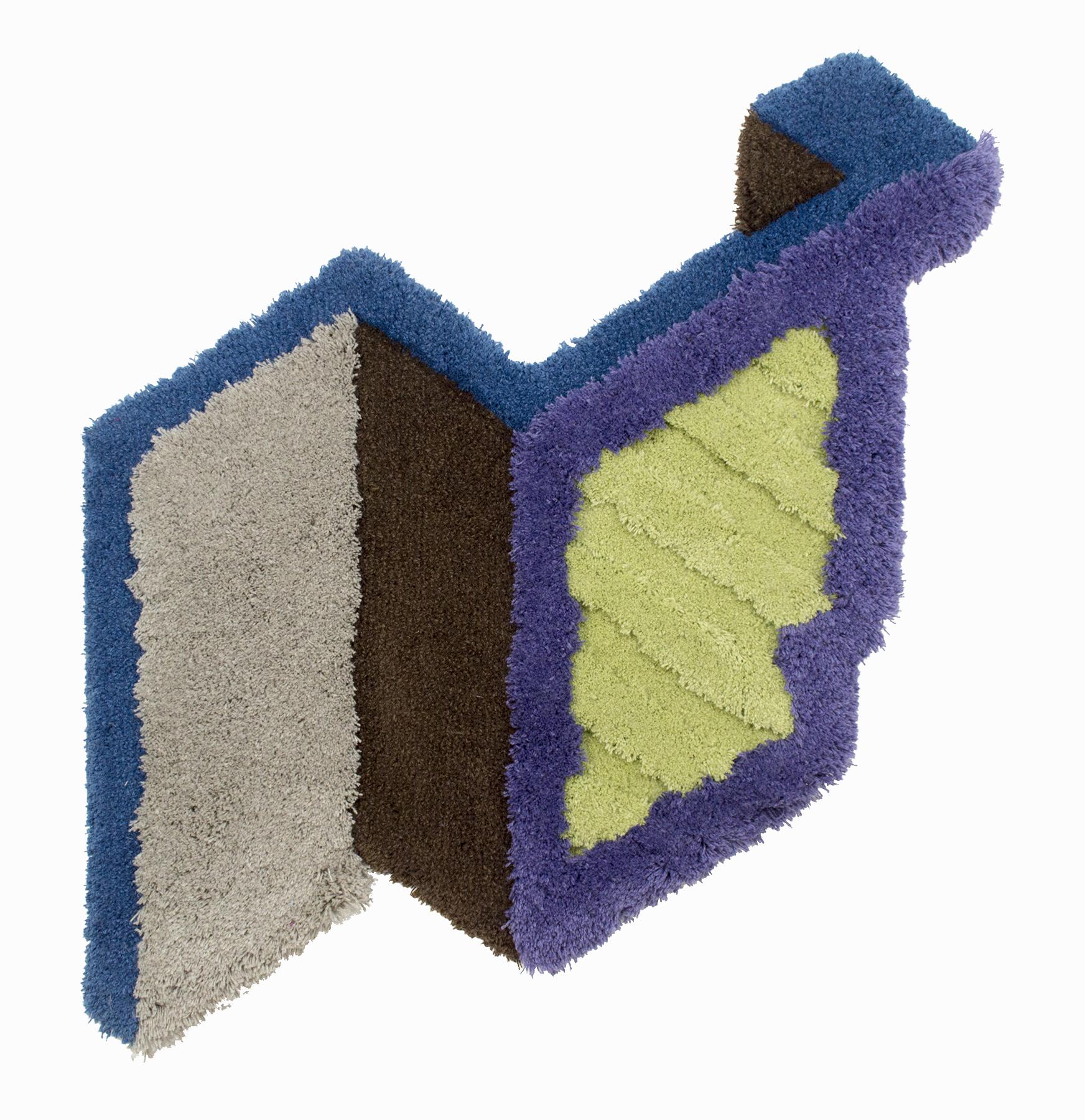 Soffit, 48 x 43 inches / 121.9 x 109.2 cm, wool yarn on wood panel, 2019