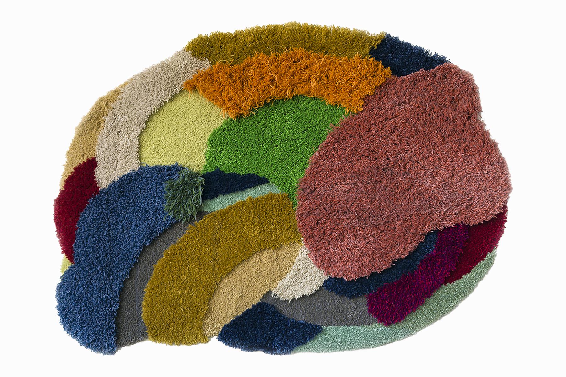 Cloud, 43 x 62 inches / 109.2 x 157.5 cm, wool yarn on wood panel, 2019