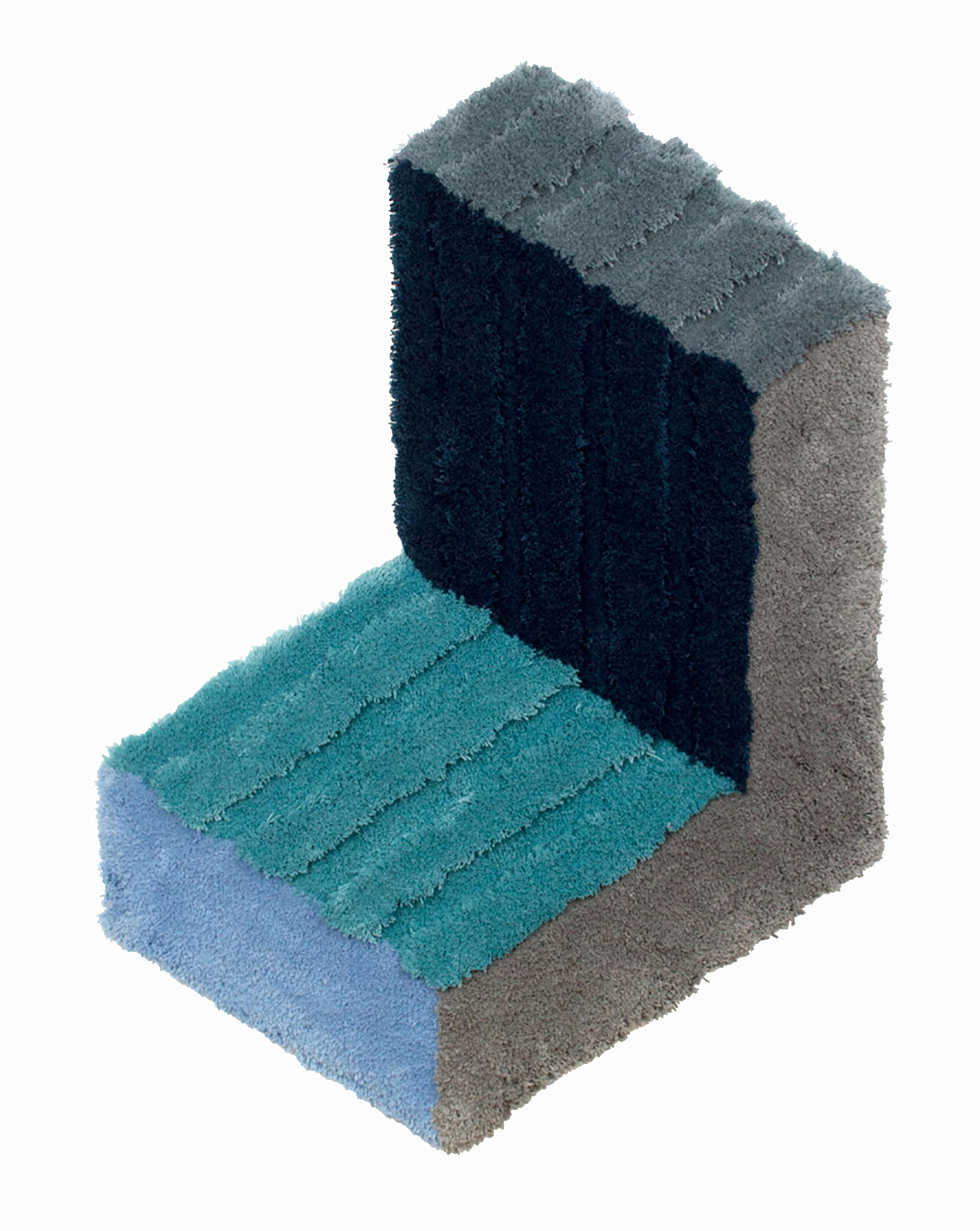 Corner Bracket, 53 x 37.5 inches / 134.6 x 95.3 cm, wool yarn on wood panel, 2019