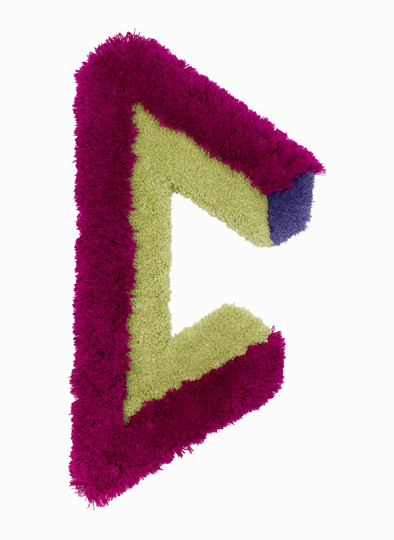 Bent Bracing, 35 x 16.5 inches / 88.9 cm x 41.9 cm, wool yarn on wood panel, 2019