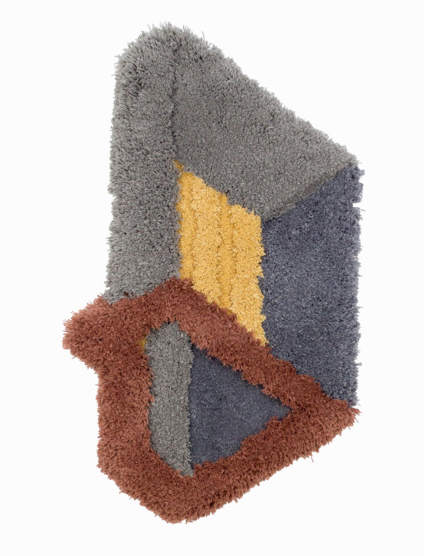 Corner Illusion, 37 x 21 inches / 94 x 53.3 cm, wool yarn on wood panel, 2019