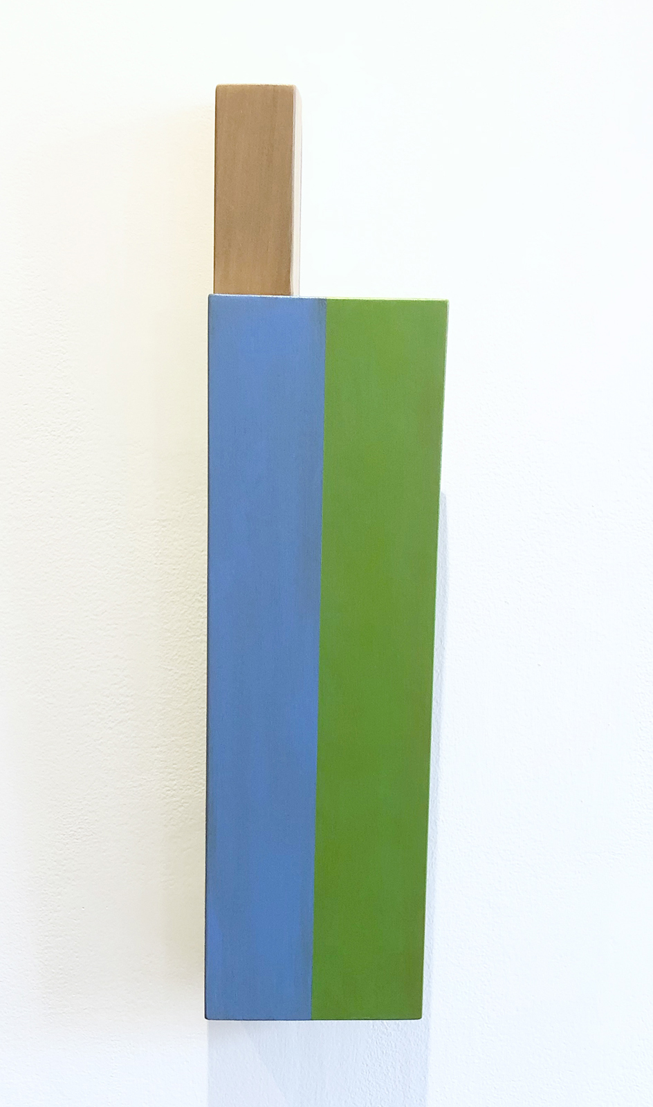 Not Allowed to Take Kings #3, 24 x 5.875 x 3.5 inches / 61.5 x 15 x 9 cm, acrylic on poplar and maple, 2019