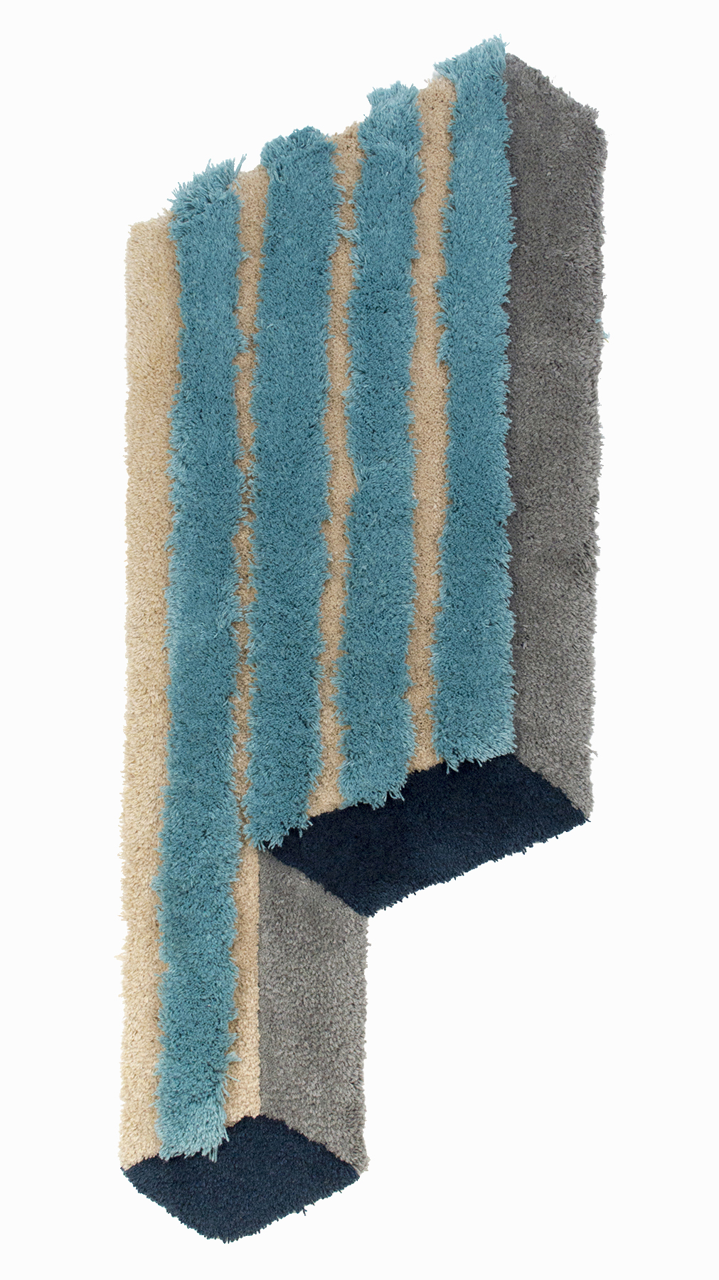 Alternate Row, 60 x 23 inches / 152.4 x 58.4 cm, wool yarn on wood panel, 2019