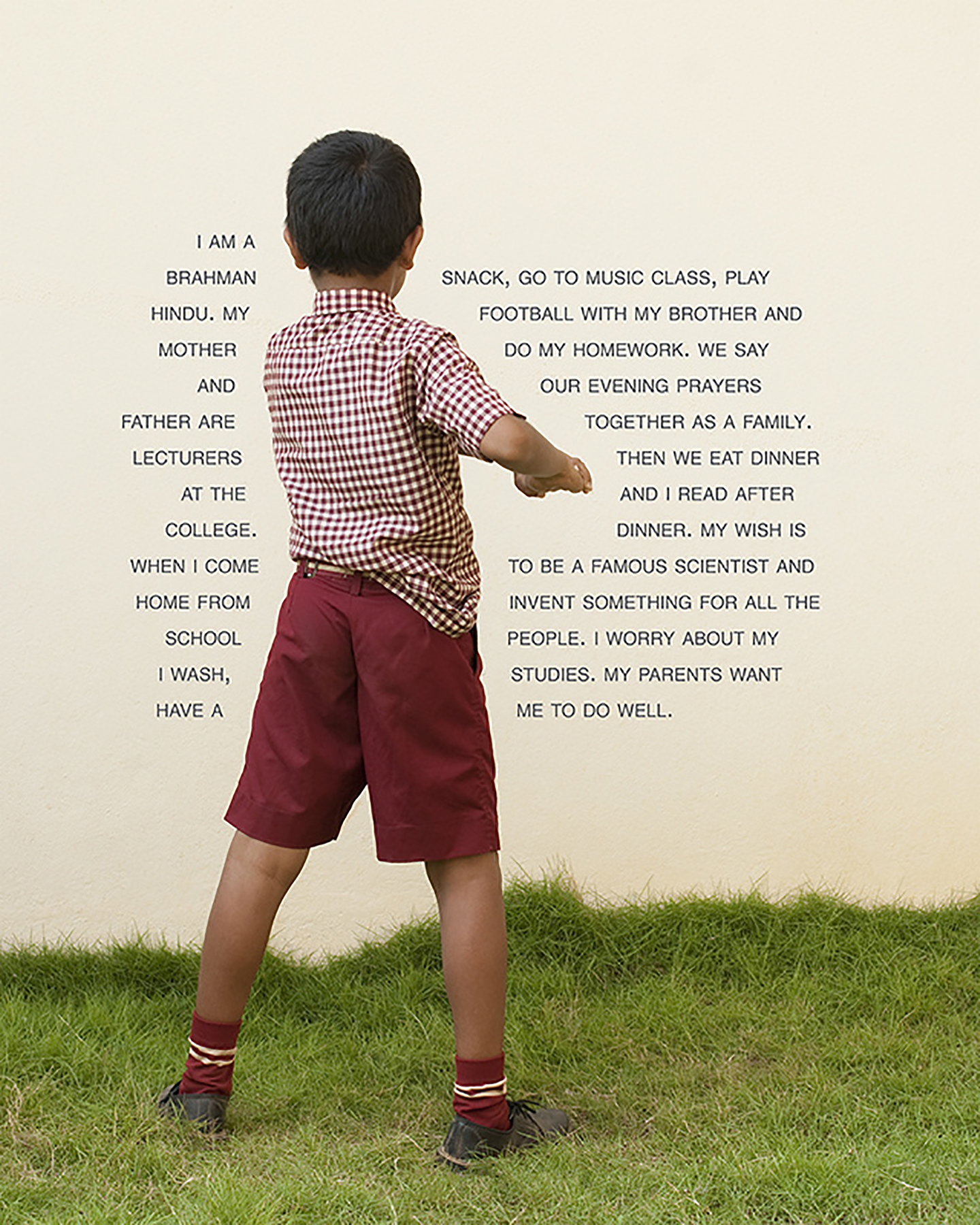 Fourth Grade - Do Well (India: Private School), 25 x 20 inches / 63.5 x 50.8 cm, archival pigment print, edition 1/5, 2010