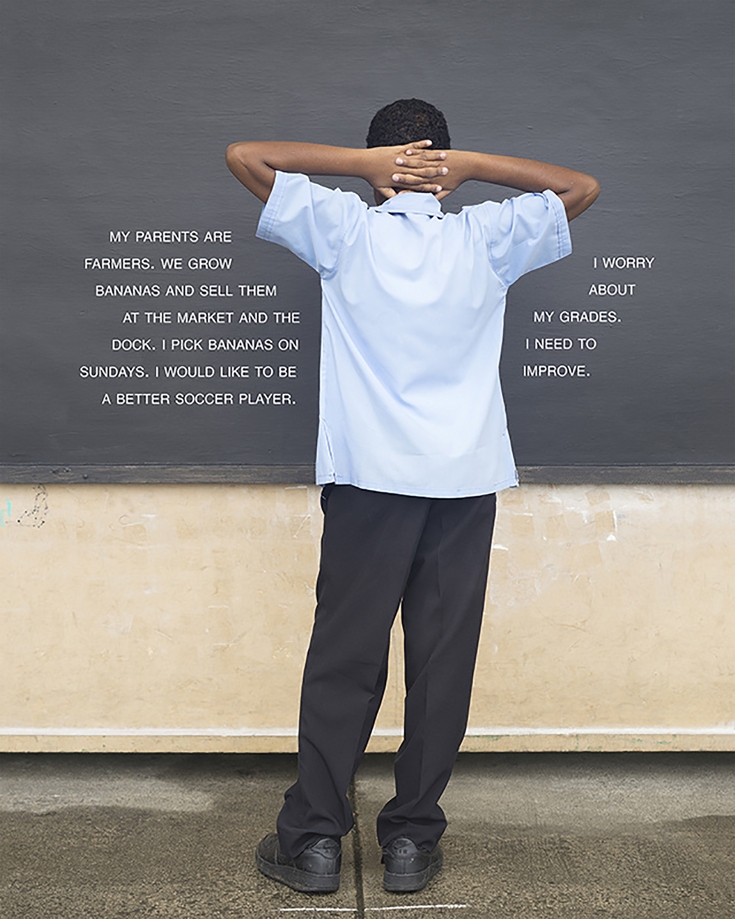 Fourth Grade - To Improve (St. Lucia: Public School), 25 x 20 inches / 63.5 x 50.8 cm, archival pigment print, edition 1/5, 2015