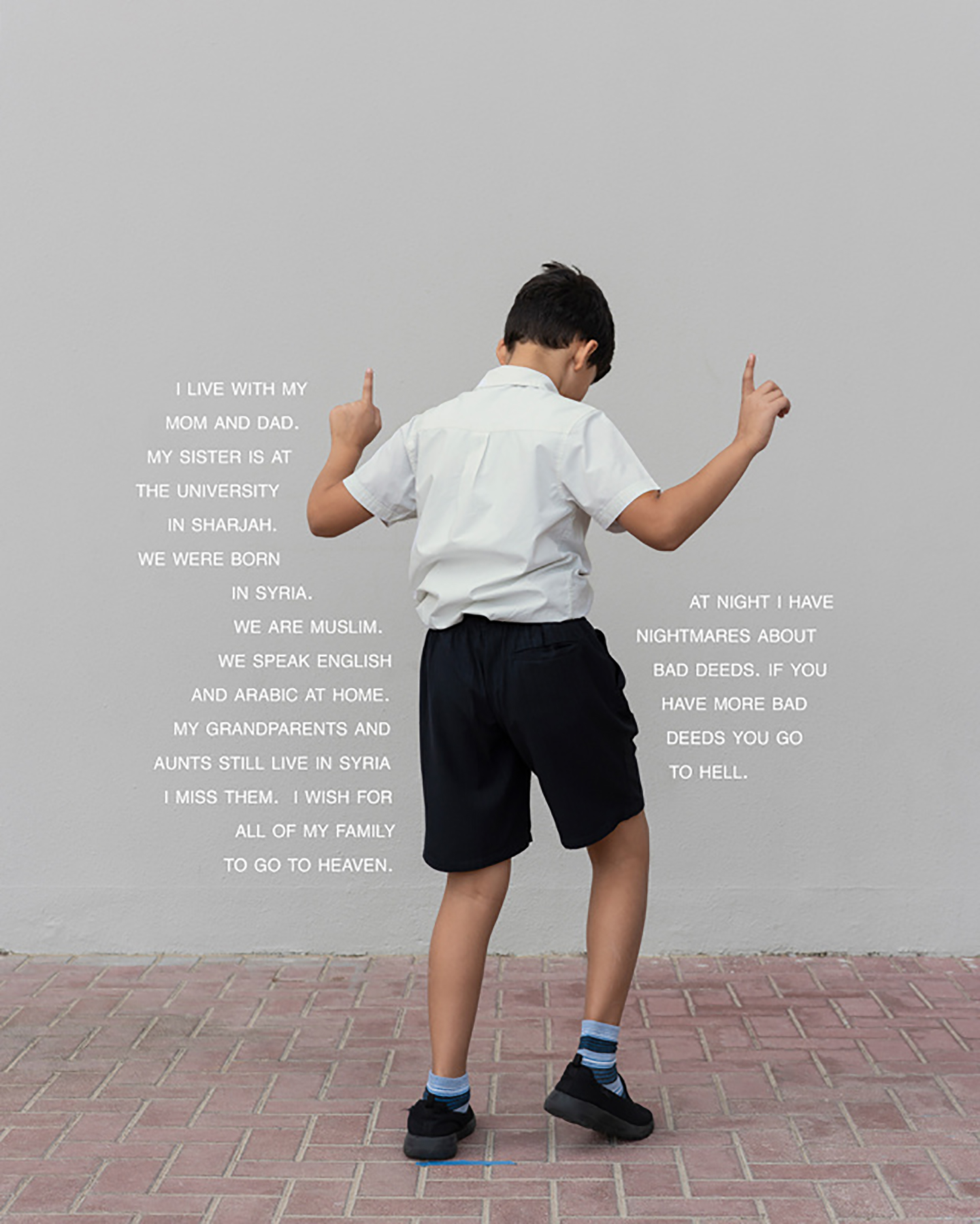 Fourth Grade - To Hell (Dubai: Public School), 25 x 20 inches / 63.5 x 50.8 cm, archival pigment print, edition 1/5, 2019