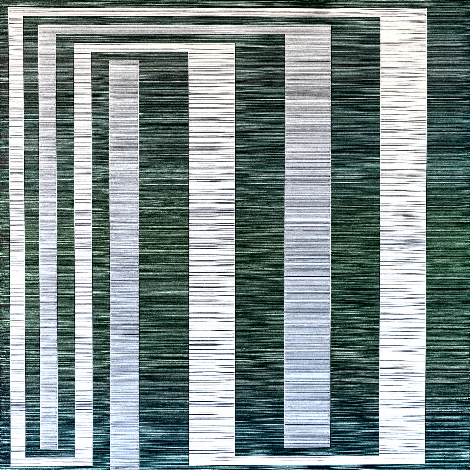 Bandwidth (Invidia), 39 x 39 inches / 99 x 99 cm, acrylic on muslin on panel, 2019