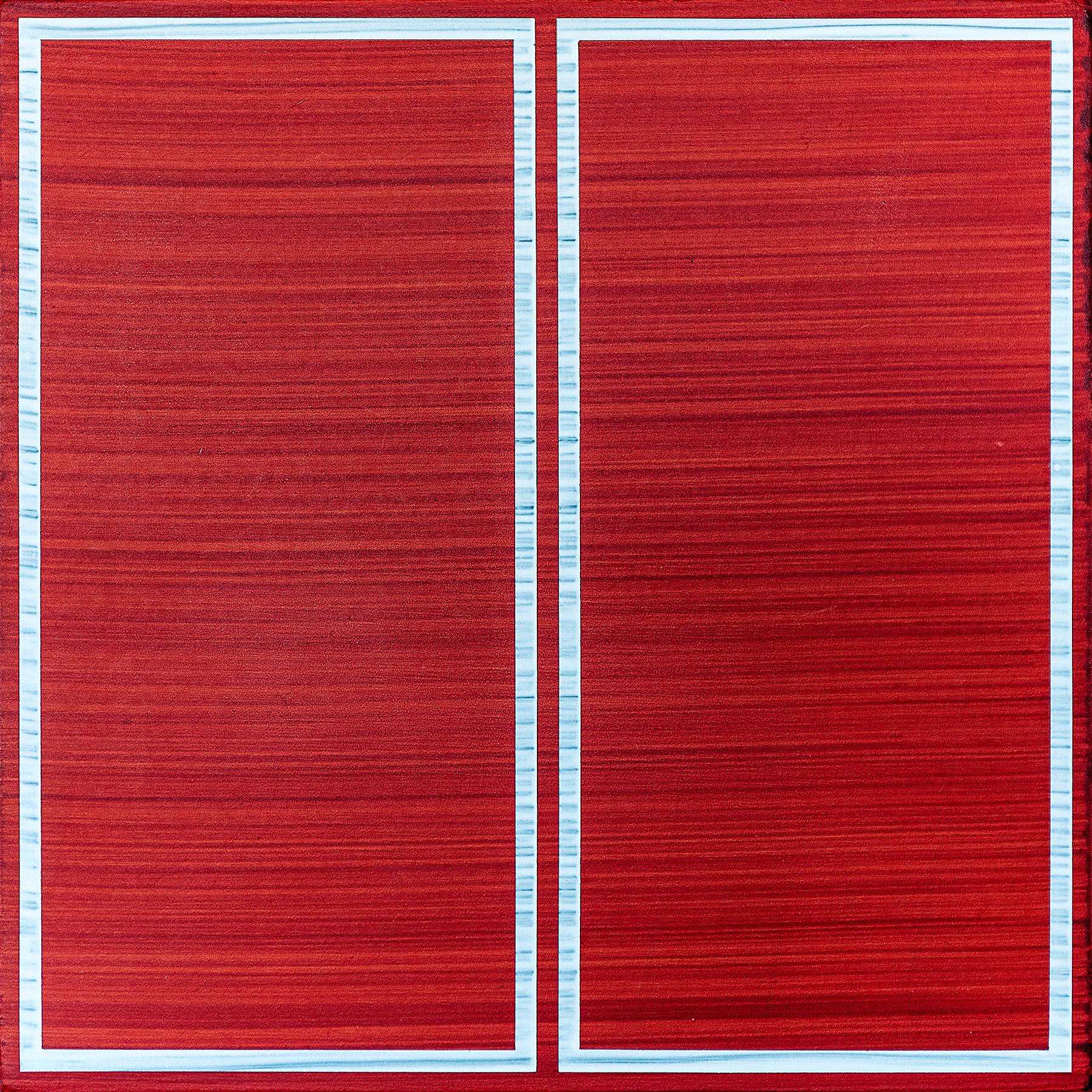 Gemini #03, 12 x 12 inches / 30.5 x 30.5 cm, acrylic on muslin on panel, 2018