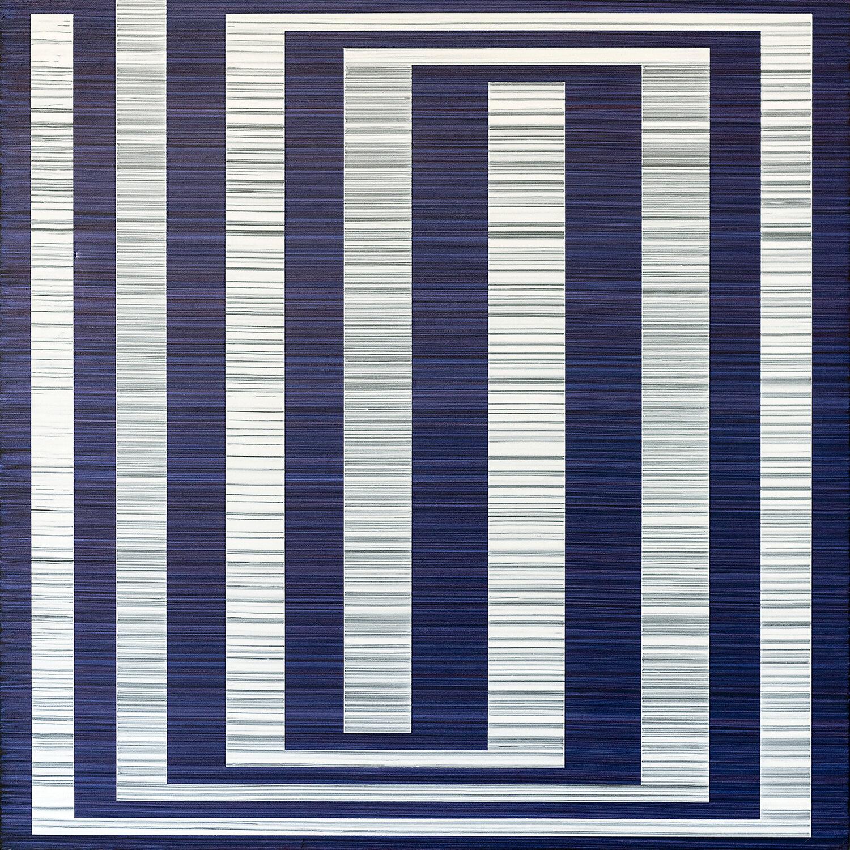 Birdsong (Martin), 24 x 24 inches / 61 x 61 cm, acrylic on muslin on panel, 2019