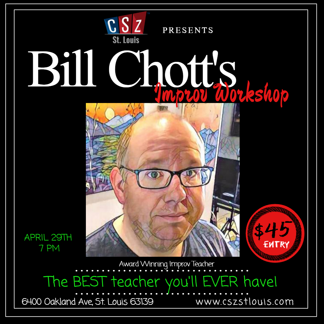 Bill Chott's - Is coming to share his experience with us!!