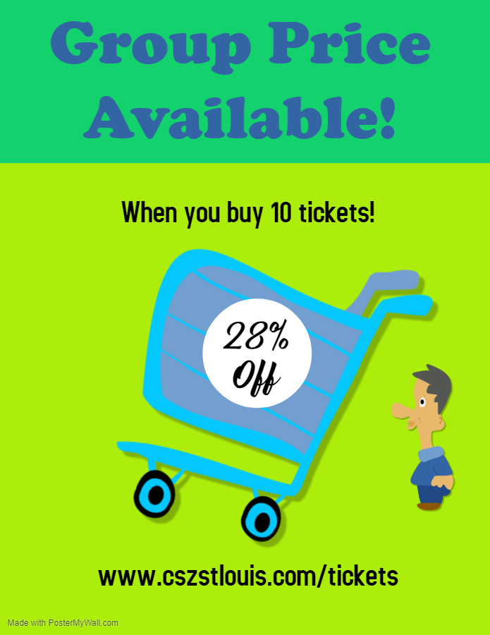 Group Price Available! Buy 10 tickets and save 28%. -