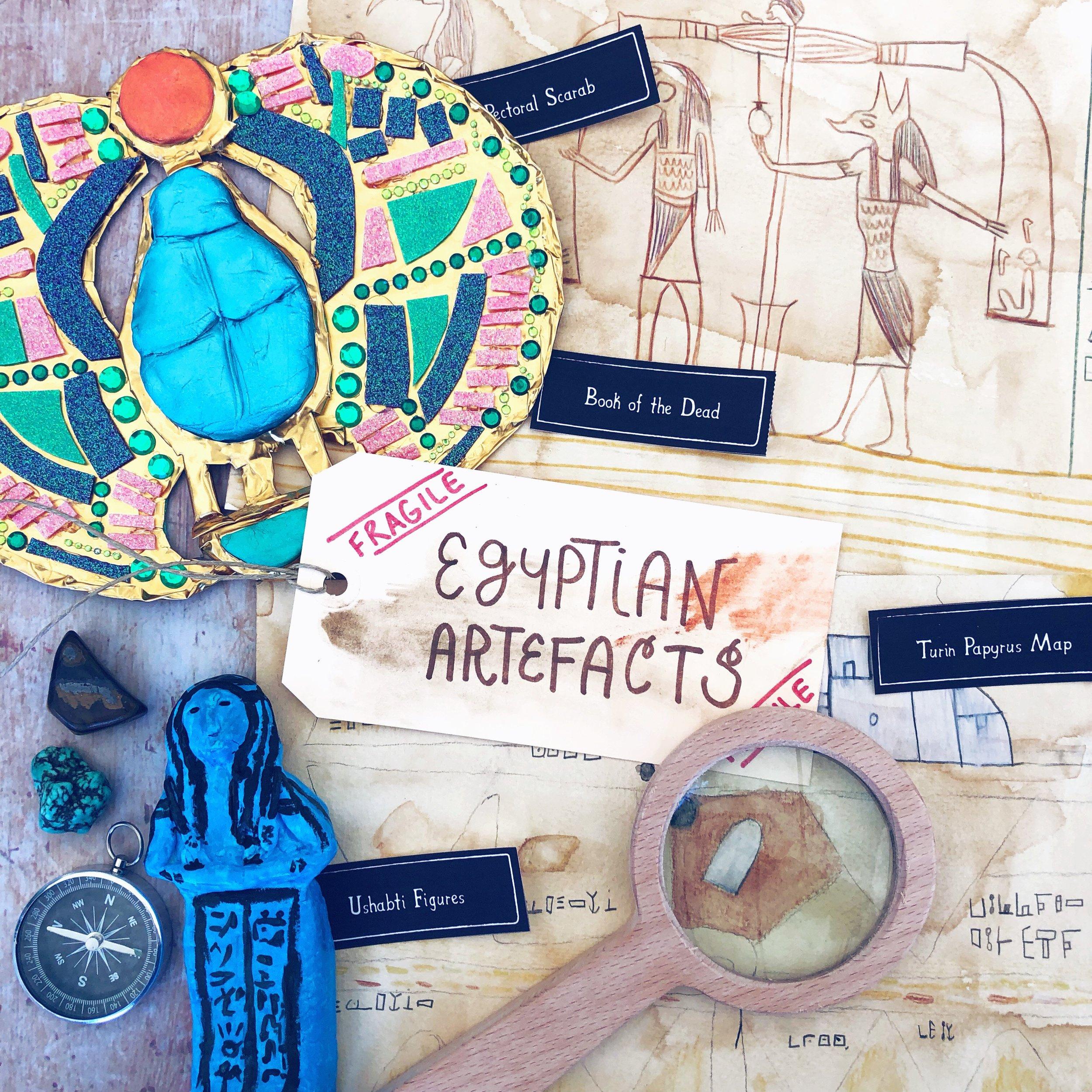 Wonder Family Book Club Make an Egyptian Artefact.JPG